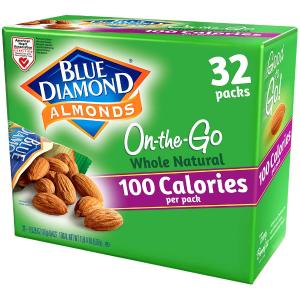 Blue Diamond Almonds Whole Natural Raw Snack Nuts 32pks