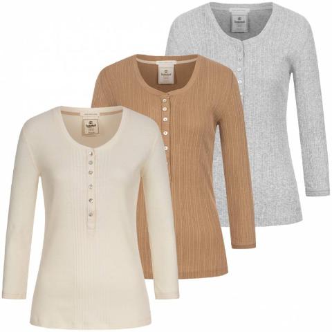 仅€9.99收 三色选Timberland 女式内搭长袖T恤 2.9折特卖 100%有机棉 超舒适