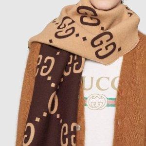 $395收全羊毛围巾 封面同款有货Gucci 新款围巾帽子登场 分分钟就要断货的呀
