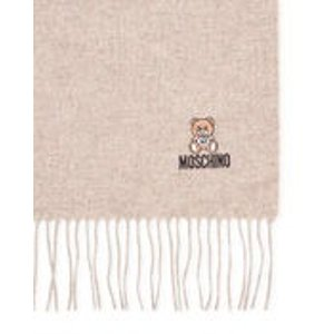 Moschino米色小熊羊毛围巾
