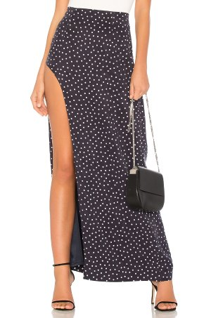 Capulet MILENA SKIRT  in Navy Polka Dot | REVOLVE