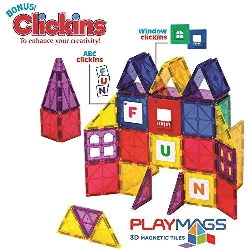 3D 磁力片拼搭玩具,100片
