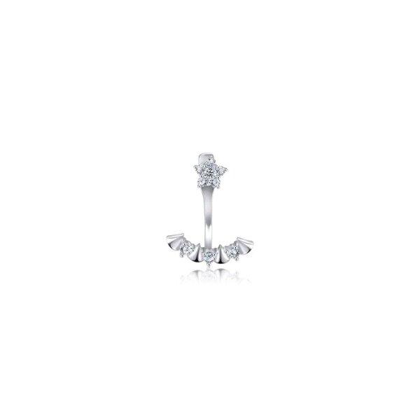 钻石铂金耳环 单只