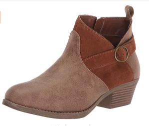 $14.72Skechers Lasso 女款粗跟拼色短靴