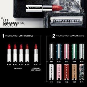 """整支定制只需€28!送3个小样!再送2个大牌小样Givenchy 纪梵希 高定精品唇膏定制壳 彰显""""唇""""个性 十色可选!"""