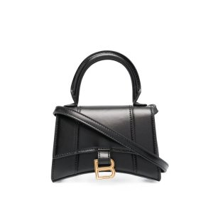 BalenciagaHourglass Leather Top Handle Bag