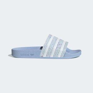 Adilette  蓝色拖鞋