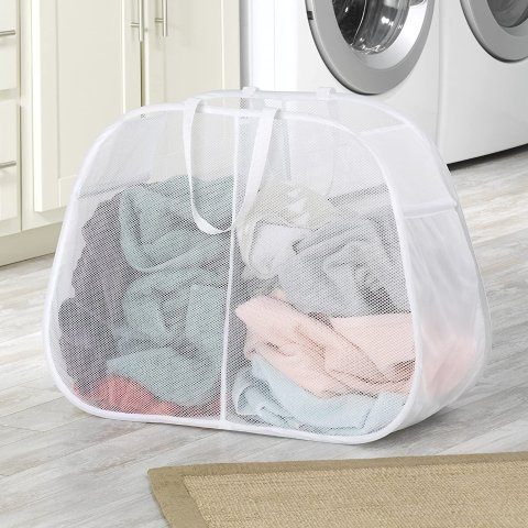 Whitmor Pop & Fold Double Laundry Hamper