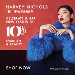 Harvey Nichols 时尚+美妆大牌特卖 收加鹅、Lamer、YSL等