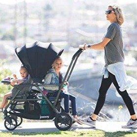 立减$120 两款都是史低价史低价:JOOVY Caboose S 标准双人儿童推车
