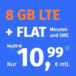 月租€10.99 免除€19.99接通费本周最划算! 包月电话/短信+8GB高速流量+欧盟漫游