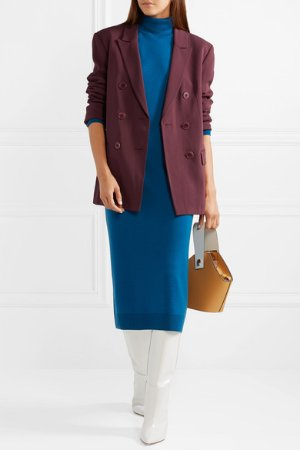 Tibi | Steward oversized double-breasted crepe blazer | NET-A-PORTER.COM