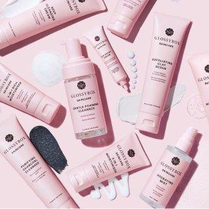 限时8折+送2小样!€13.8收洁面乳GlossyBox 护肤系列开售 高性价比 粉嫩少女高颜值包装