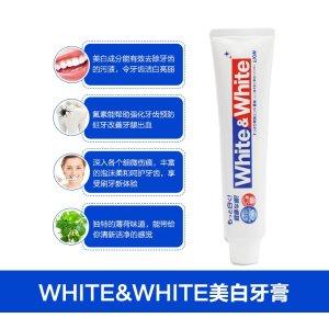 日本LION/狮王WHITE & WHITE美白牙膏150g
