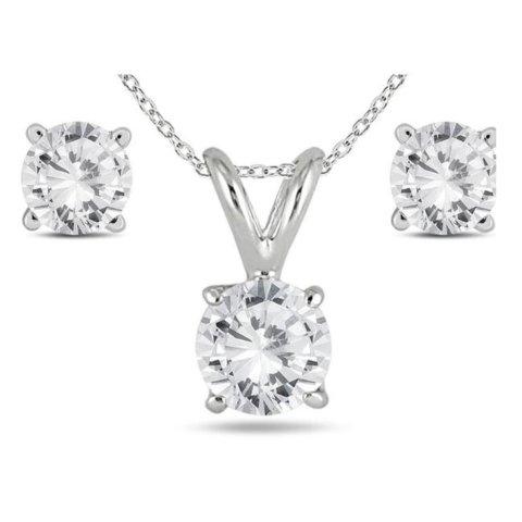 $499 + Free ShippingDealmoon Exclusive: Szul 1 Carat TW Diamond Pendant & Earring Matching Set