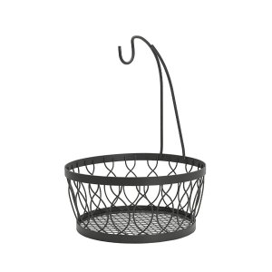 Mikasa Rustic Farmstand Metal Fruit Storage Basket with Banana Hook