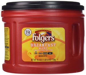 $3.57Folgers Breakfast Blend Ground Coffee, Mild Roast, 25.4 Ounce