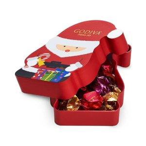 Godiva巧克力松露圣诞老人礼盒 8颗