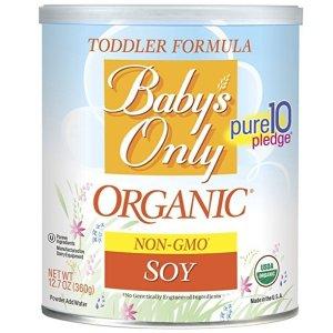 $9.99 乳糖不耐受宝宝看过来Baby's Only 有机豆奶粉,360g