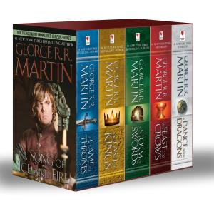 $38.69(原价$59.95)George R. R. Martin's 冰与火之歌 权力的游戏 原著小说 礼盒装 1-5