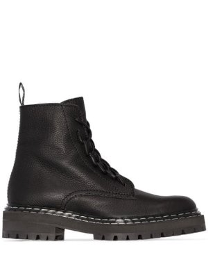 Proenza Schouler Leather Lace Up Boots