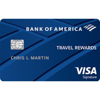 25,000 Online Bonus Points OfferBank of America® Travel Rewards Visa® credit card