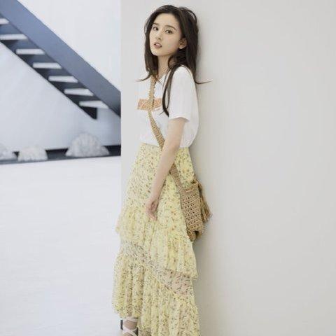 £12收飘逸百搭半身裙H&M 半身长裙惊喜热卖 复古碎花超级优雅 简介大气款也有哦