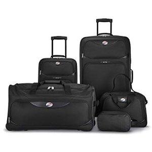 $49.99 销量冠军史低价:American Tourister 牛津布软面行李箱超值5件套
