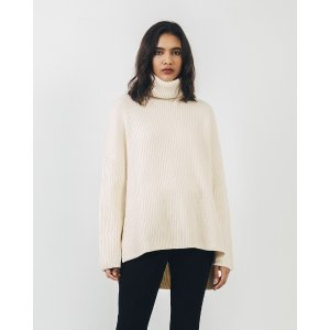 Le MerceauPRE-ORDER Ivory Ribbed Turtleneck Sweater