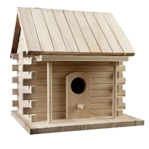 ArtMinds Log Cabin Birdhouse