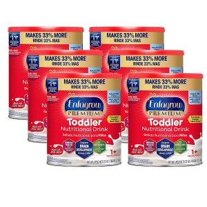 Extra 20% OffAmazon Enfagrow PREMIUM Toddler Nutritional Drink, 32 oz Powder Can (Pack of 6)