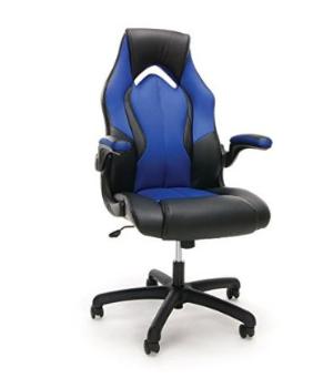 史低价 $88.49(原价$128.92)Essentials by OFM 赛车风格 皮质游戏椅