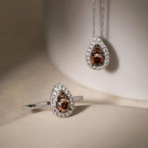低至4.2折+7.5折Le Vian  法国高奢珠宝  独特巧克力钻 指尖落日余晖
