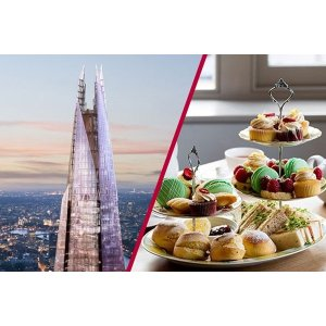 Buyagift5店可选 含希尔顿酒店下午茶The Shard观景+下午茶