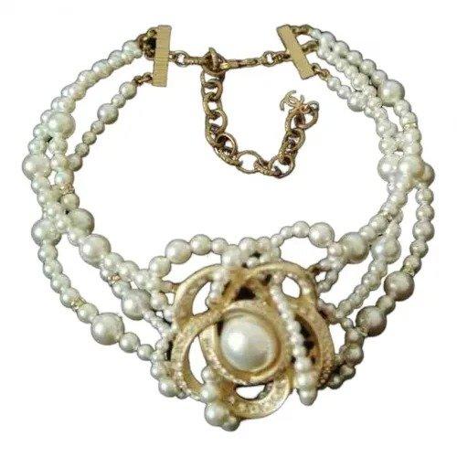 珍珠山茶花项链
