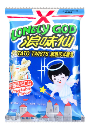 WANT WANT LONELY GOD Vegetable Flavor Potato Twists