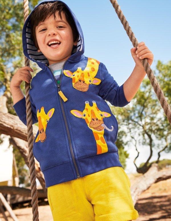 儿童长颈鹿连帽外套