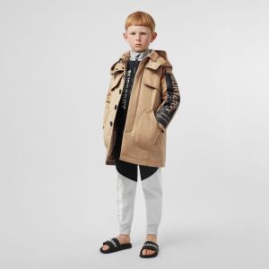 7折+包邮 $126收套头卫衣Burberry 儿童风衣、夹克、卫衣、羊绒衫等服饰、鞋履优惠