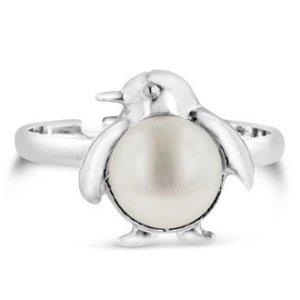 SuperJeweler企鹅淡水珍珠戒指