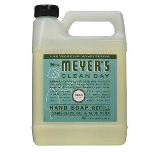 Mrs. Meyers Liquid Hand Soap Refill, Basil Scent, 33 Oz