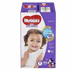 $27.66 部分用户额外8折 HUGGIES Little Movers Diapers, Size 4, 152 Count