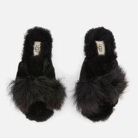 UGG 女士毛毛拖鞋-黑色