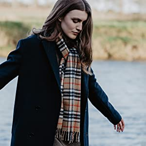 £50起 收苏格兰经典特色围巾Glen Isla 苏格兰小众羊绒围巾  格纹复古英伦风 绝佳伴手礼
