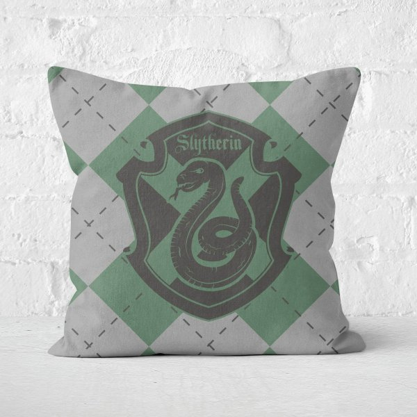 Slytherin Square Cushion