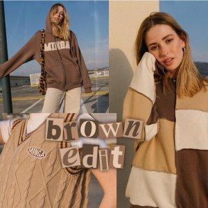 正价8.5折 封面款棕色卫衣£42Minga London 小众明星平价私服 新品上架 少女感休闲服万岁!