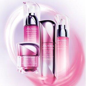 最高送价值$112好礼Shiseido官网 新透白美白系列护肤品热卖 超高颜值少女心