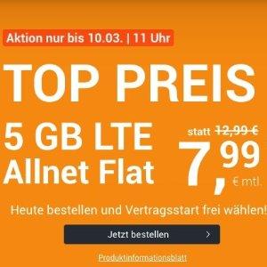 月租€7.99 带号入网再送10欧