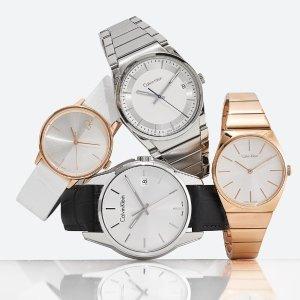 额外8折 低至$39.99 包邮白菜价:Ashford 精选 Calvin Klein 时装腕表特卖