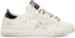 Golden Goose: White Star May Sneakers | SSENSE