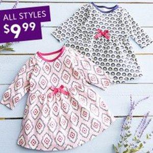 全部$9.99 一次买两件最后一天:Zulily 女婴幼童连衣裙特卖 短袖长袖全都有
